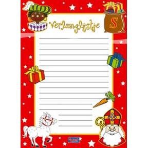 Verlanglijstje Sinterklaas en Zwarte Piet