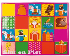 Wanddecoratie Sint & Piet Kids