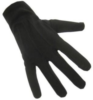 Handschoenen Zwarte Piet Katoen Luxe Zwart