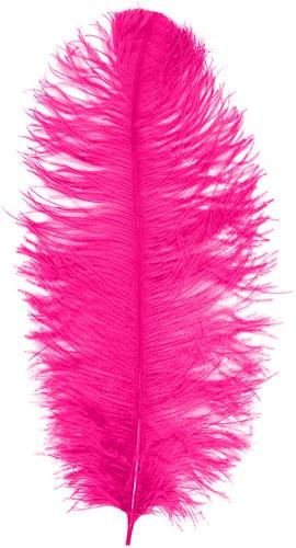 Struisvogelveer Hot Pink ca. 30cm