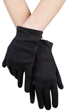 Zwarte korte handschoenen