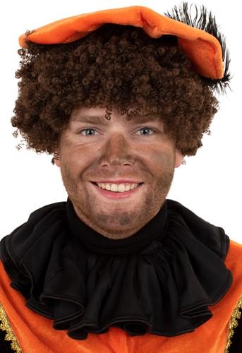 Kraag Zwarte Piet Trevira Zwart