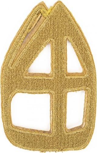 Set Applicaties Gouden Sinterklaas Mijters (Opstrijkbaar)