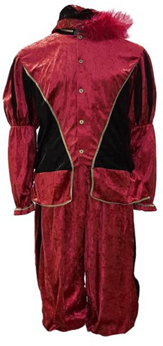Zwarte Piet Kostuum Pedro Rood-Zwart