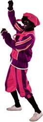 Luxe Piet Fluweel Paars/Roze
