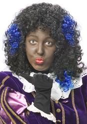 Zwarte Piet Haar Extension Blauw