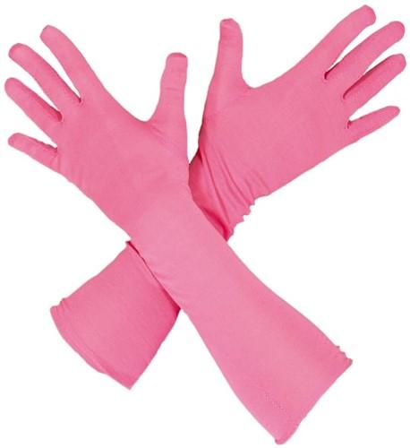 Piet Handschoenen Lang Roze (45cm)