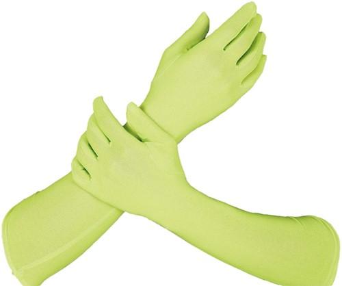 Piet Handschoenen Lang Limegroen (42cm)
