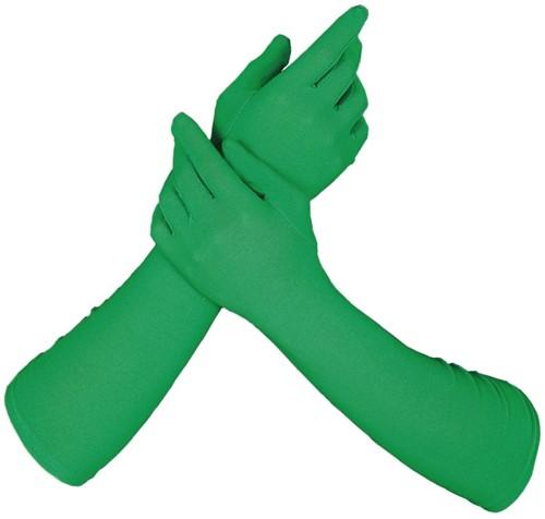Piet Handschoenen Lang Groen (42cm)