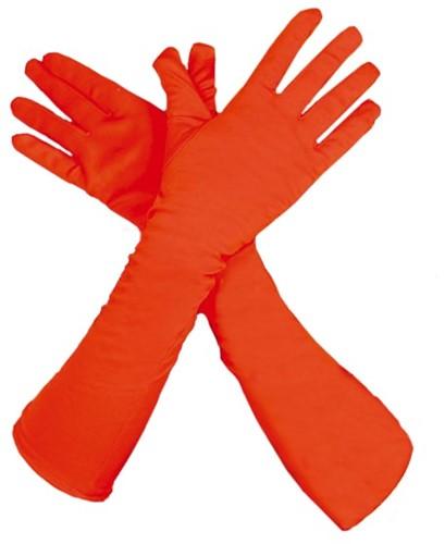Piet Handschoenen Lang Oranje (45cm)