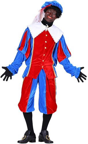 Pietenpak Carlos Fluweel Polyester Rood/Blauw
