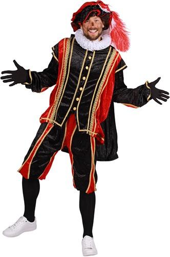 Zwarte Pietenpak Bilbao Zwart/Rood