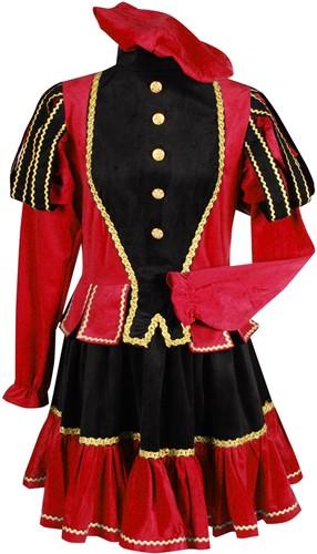 Murcia Dames Pietenpak Zwart/Rood