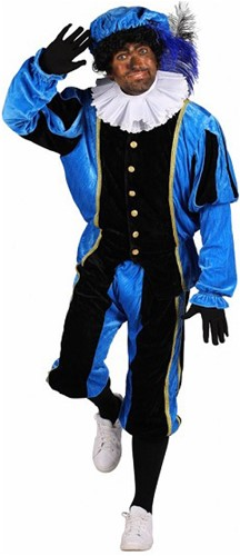 Pietenpak Carlos Polyester Fluweel Blauw/Zwart