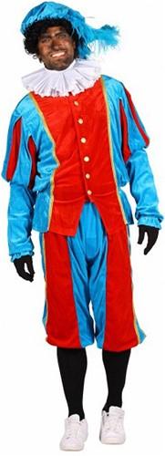 Pietenpak Carlos Polyester Fluweel Turquoise/Rood