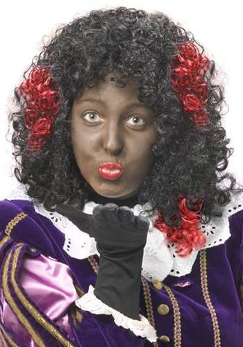 Zwarte Piet Haar Extension Rood