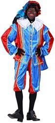 Zwarte Pietenpak Bilbao Blauw/Rood