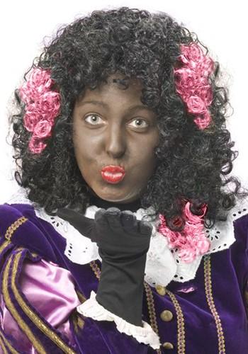Zwarte Piet Haar Extension Roze