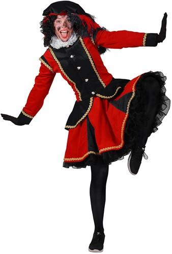 Pietenpak Madrid Zwart/Rood voor dames