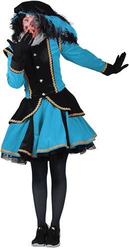 Pietenpak Madrid Zwart/Turquoise voor dames