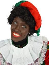 Zwarte Piet Baret Groen/Rood (fluweel)