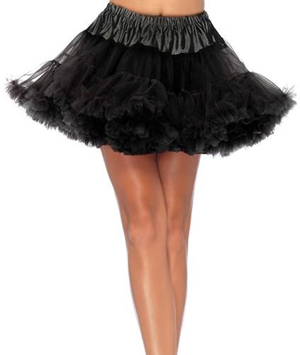 Luxe Zwarte Petticoat (2 lagen)