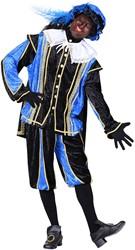 Zwarte Pietenpak Bilbao Zwart/Blauw