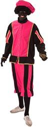 Piet Fluweel Luxe Pink/Zwart