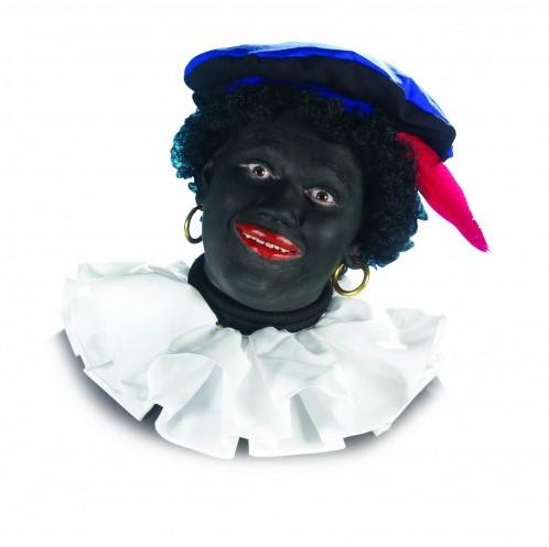 Kraag Zwarte Piet Trevira Wit