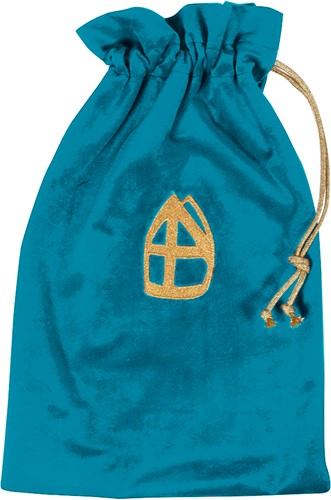 Strooizak Zwarte Piet Turquoise Luxe