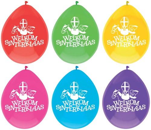 Welkom Sinterklaas Ballonnen 30cm - 10st