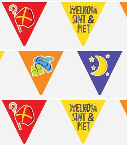 Welkom Sint & Piet Vlaggenlijn - 6m