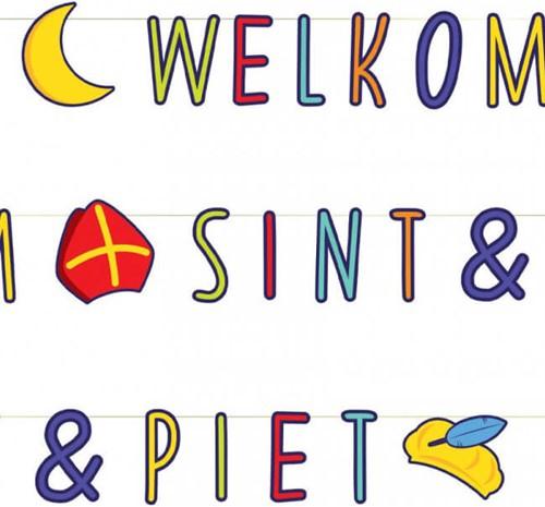 Welkom Sint & Piet Letterslinger - 285cm