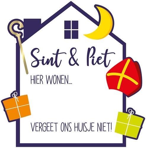 Beschrijfbaar Deurbord Sint & Piet - 50cm