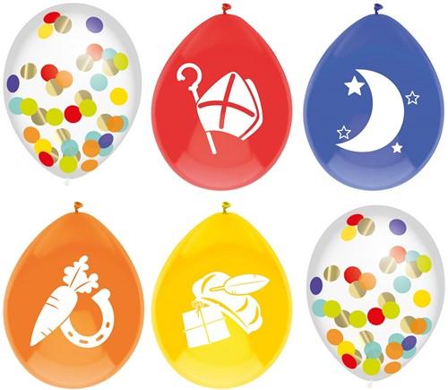 Sinterklaas Ballonnen Mix 30cm - 6st
