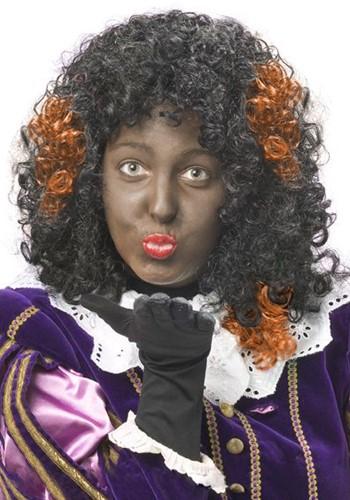 Zwarte Piet Haar Extension Oranje