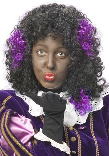 Zwarte Piet Haar Extension Paars
