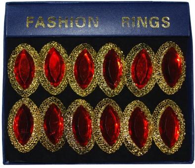 Ovale steen ring