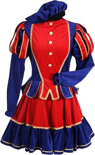 Dames Pietenpak Murcia Rood/Blauw