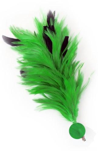 Groene Buigbare Verenpluim met Speld en Clip (30 cm)