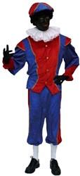 Kostuum Zwarte Piet Blauw