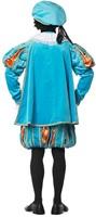 Fluwelen Pietenpak Zwart/Rood Luxe met Cape (achterkant unisex)