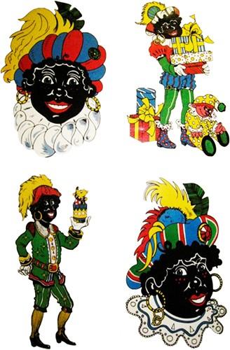 Raamdeco Zwarte Piet (assorti)