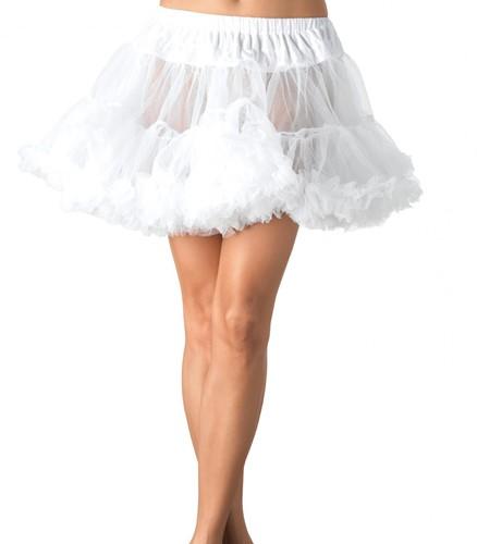 Luxe Witte Plus Size Petticoat (2 lagen)