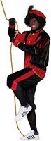 Zwarte Pietenkostuum voor Volwassenen Zwart met Rood-3