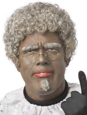 Pruik Zwarte Piet Senior Luxe