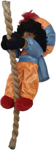 Decoratie Glitter Zwarte Piet  aan Touw (25cm)