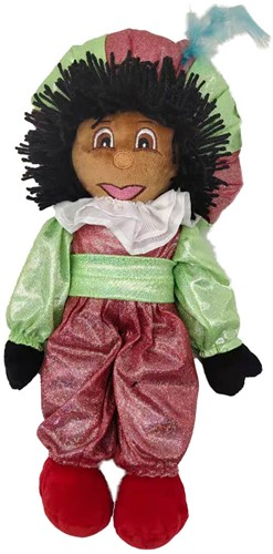 Decoratie Pop Glitter Zwarte Piet (35cm)