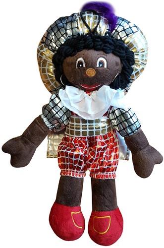 Decoratie Zwarte Piet Geblokt (70 centimeter)