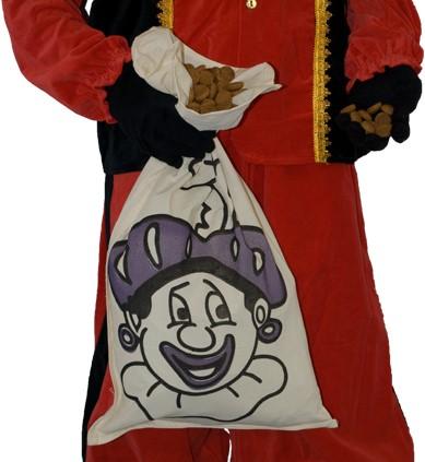 Strooizak Katoen Zwarte Piet (35x60cm)